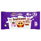 Cadbury Dairy Milk Buttons 5 Treatsize Chocolate Bags 70g