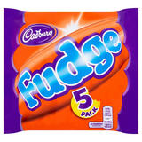 Cadbury Fudge Bar 5 Pack 127.5g