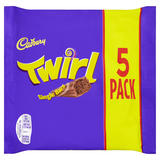 Cadbury Twirl Chocolate Bar 5 Pack 107.5g