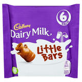 Cadbury Dairy Milk Little Bars 6 Pack 108g