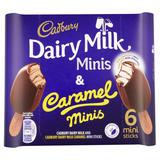 Cadbury Dairy Milk & Caramel Minis 6 x 50ml