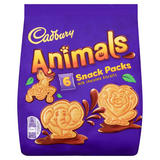 Cadbury Animals Mini Biscuits 6 Pack 132g