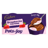 Cadbury Limited Edition Pots of Joy Strawberries & Creme 2 x 70g