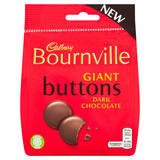 Cadbury Bournville Dark Chocolate Giant Buttons Bag 95g