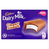 Cadbury Dairy Milk 4 Choco Snack 128g