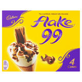 Cadbury Flake 99 Cones 4 x 125ml (500ml)