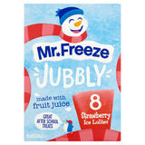 Mr. Freeze Jubbly Strawberry Ice Lollies 8 x 62ml