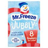Mr. Freeze Jubbly Strawberry Ice Lollies 8 x 62ml