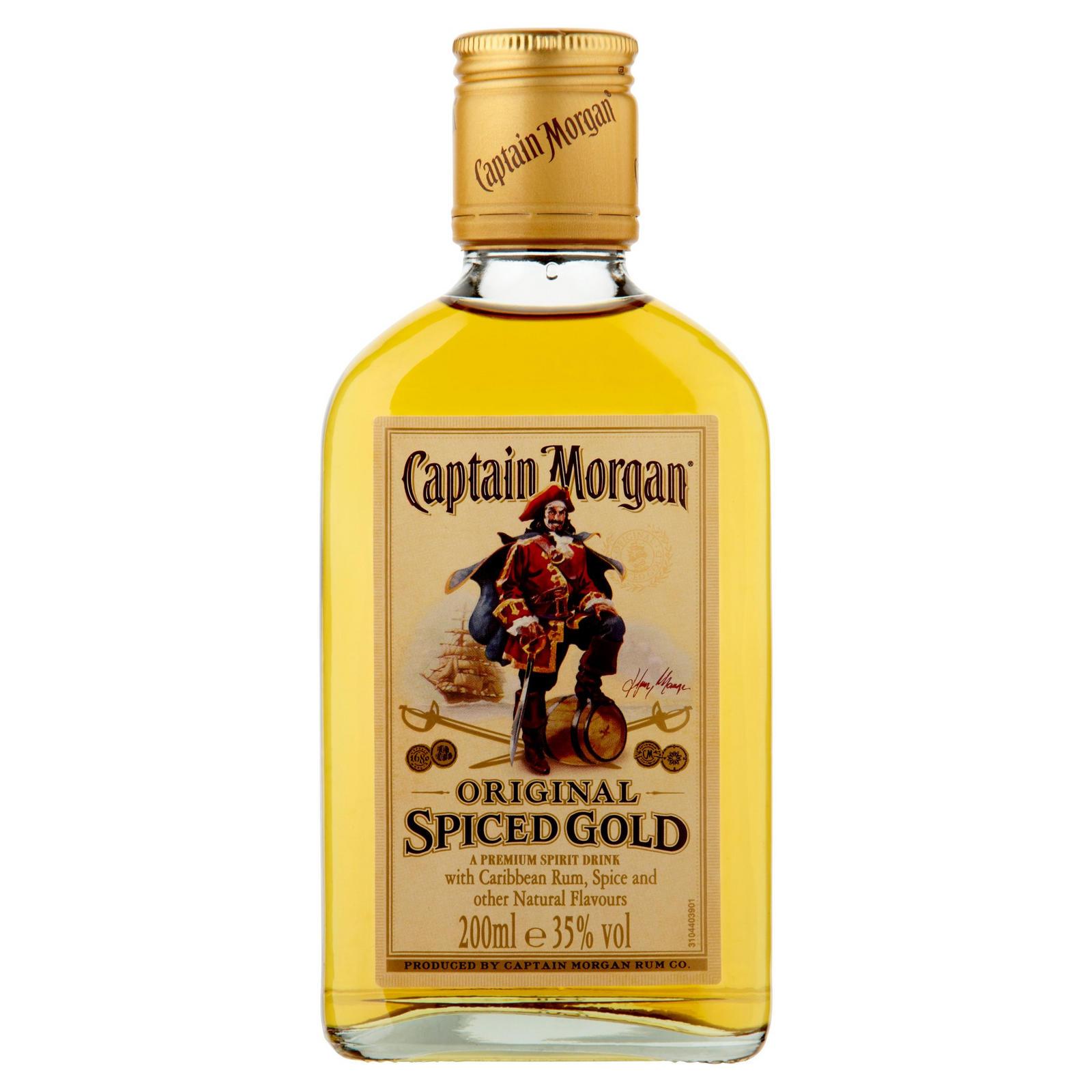 Captain Morgan Spiced Gold Rum 200ml Spirits Pre Mixed