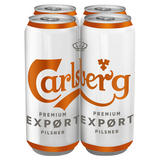 Carlsberg Export Lager 4 x 500ml Cans