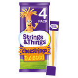 Strings and Things Cheestrings Twisted 4 Pack 80g (Cheese Snack)