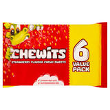 Chewits Strawberry Flavour Chewy Sweets 6 x 30g