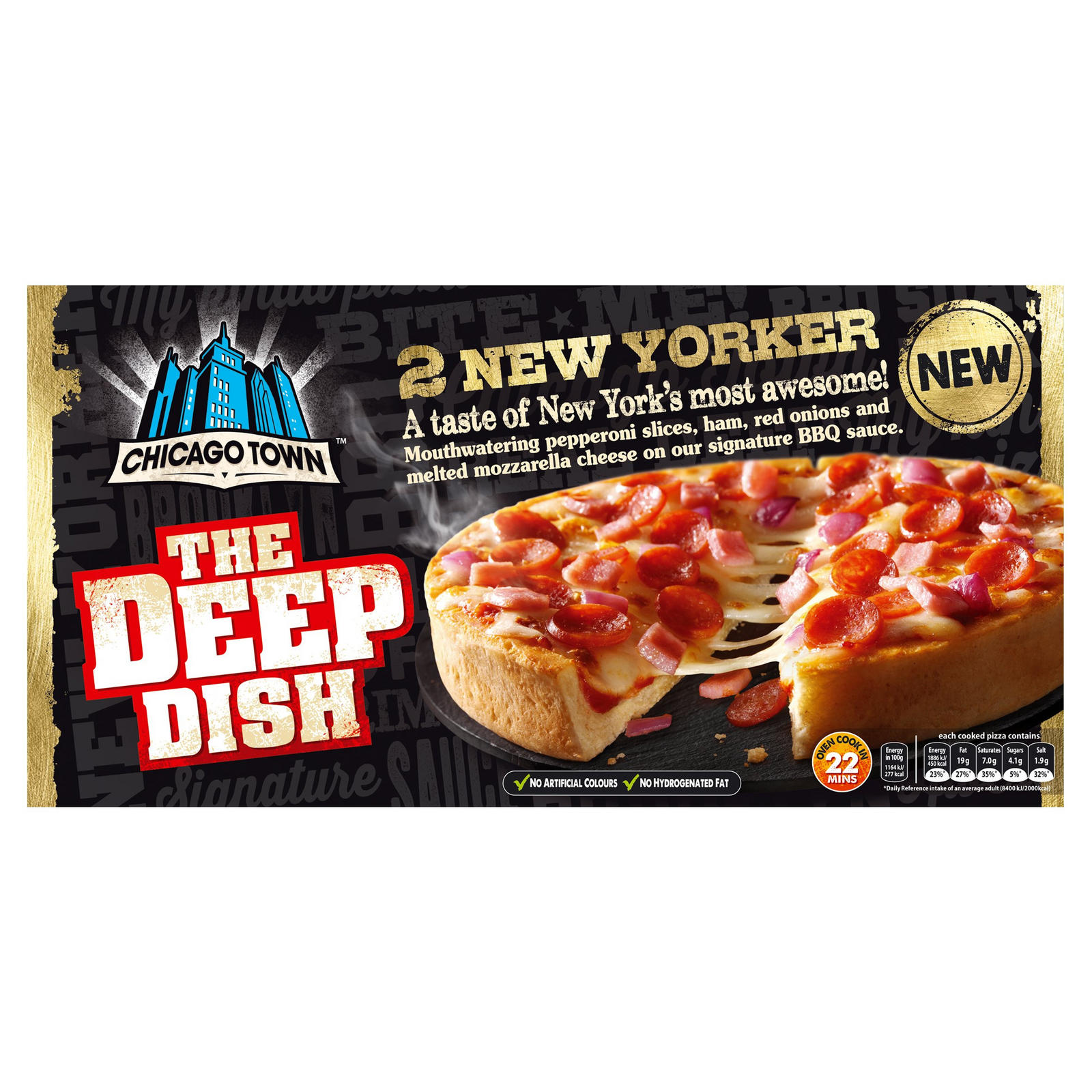 Chicago Town The Deep Dish New Yorker Pizzas 2 X 165g 330g
