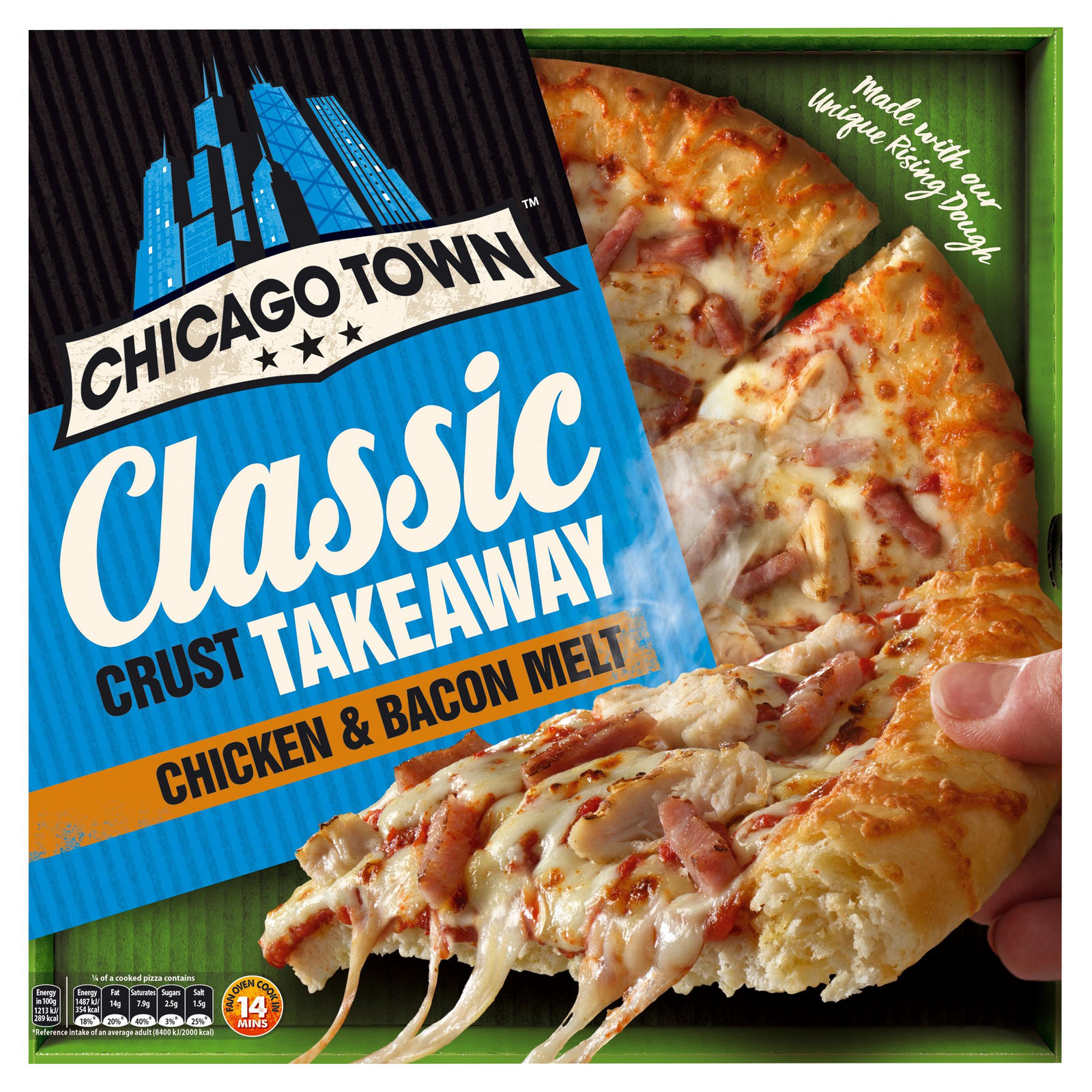 Chicago Town Takeaway Large Classic Crust Chicken Bacon