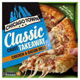 Chicago Town Takeaway Large Classic Crust Chicken & Bacon Pizza 495g