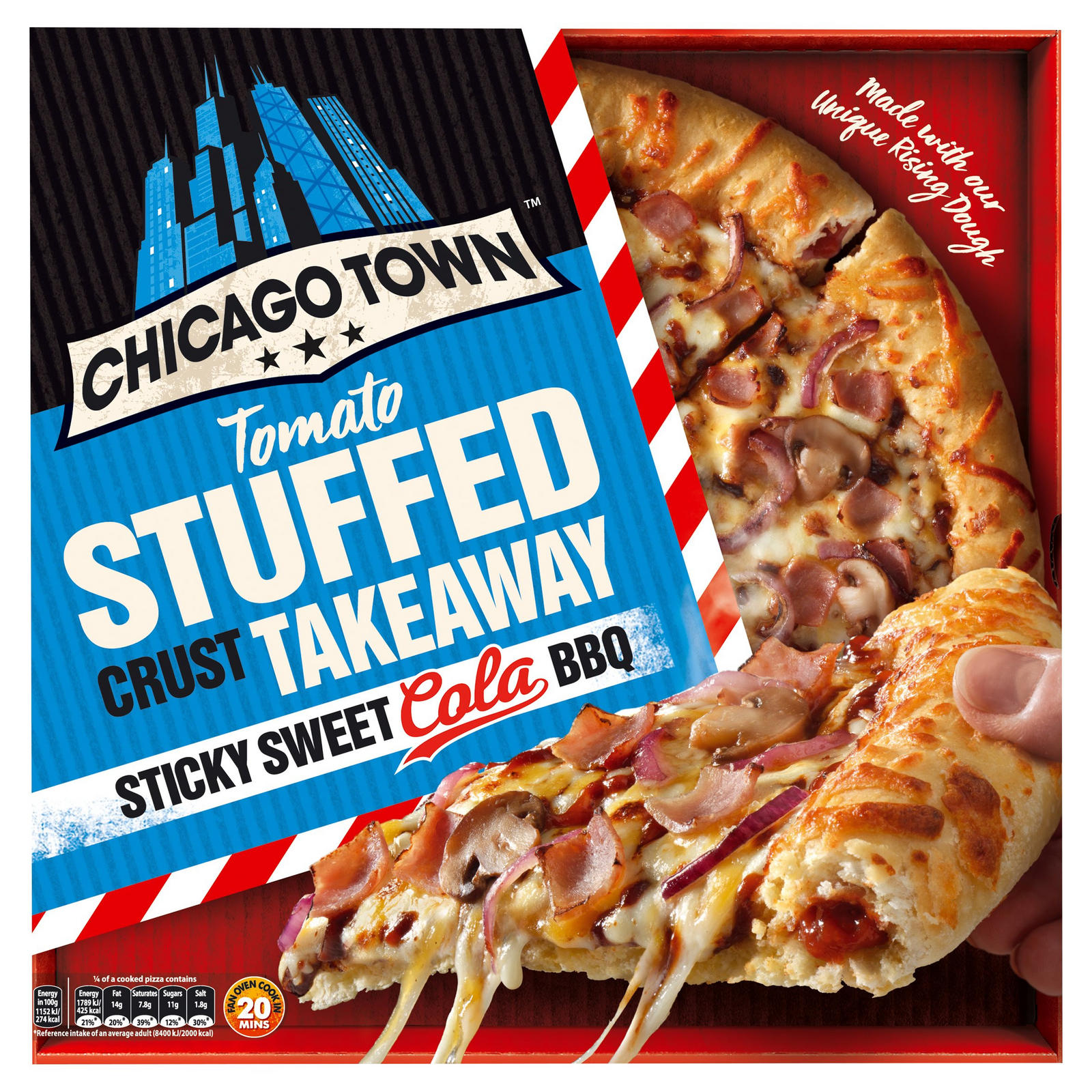 Chicago Town Takeaway Large Stuffed Crust Sticky Sweet Cola
