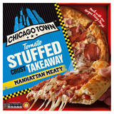 Chicago Town Takeaway Large Stuffed Crust Manhattan Meaty Pizza 655g
