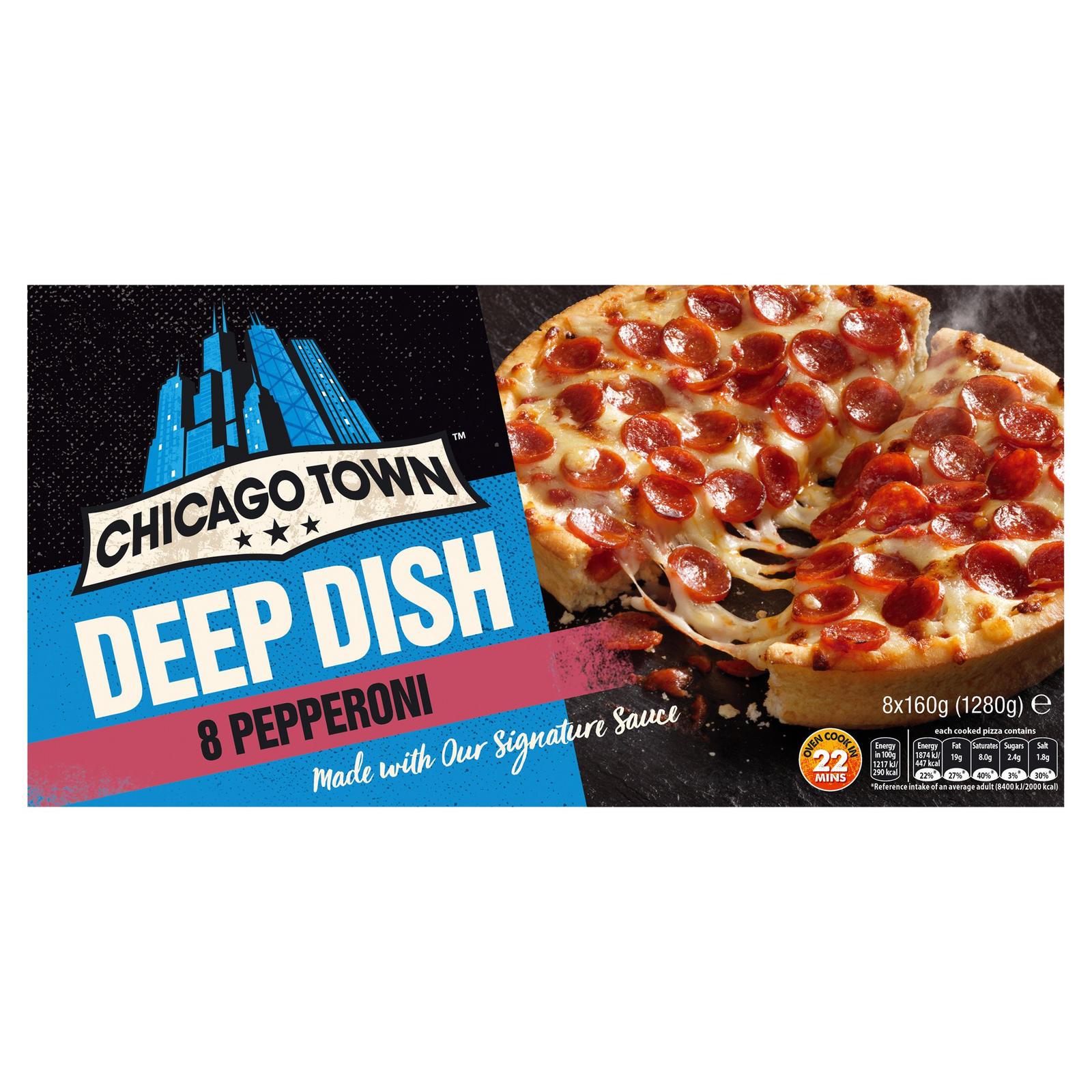 Chicago Town Deep Dish Pepperoni Pizzas 8 X 160g 1280g