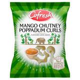 Cofresh Mango Chutney Poppadum Curls Flavoured Lentil Snack 80g