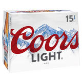Coors Light Lager 15 x 330ml