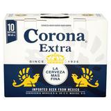 Corona Extra Premium Lager Beer Bottles 10 x 330ml