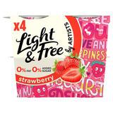 Light & Free Greek Style Strawberry Yogurt 4 x 115 (460g)