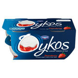 Oykos Strawberry Greek Style Yogurt 4 x 110g