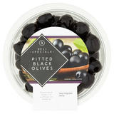 Deli Speciale Pitted Black Olives 110g