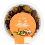Deli Speciale Chilli and Garlic Olives 160g