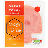Deli Co Honey Cured Lean Ham 6 Slices 130g