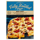 Detroit Style Fully Loaded Pizza Meat Feast with Chipotle Dressing 740g