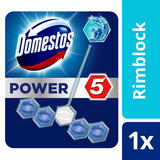 Domestos Power 5 Ocean Toilet Rim Block 1pc
