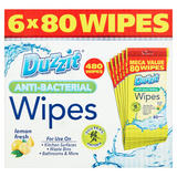 Duzzit Anti-Bacterial Lemon Fresh 480 Wipes 2.28kg