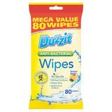 Duzzit Anti-Bacterial Lemon Fresh Wipes 80 Wipes