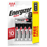 Energizer MAX® Alkaline AAA Batteries 4 + 1 Free Pack