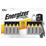 Energizer® Alkaline Power AA Batteries, 8 Pack