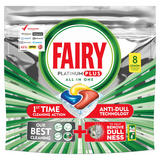 Fairy Platinum Plus Dishwasher Tablets, Lemon, 8 Tablets