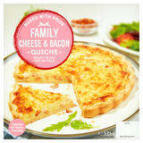 Family Cheese & Bacon Quiche 575g