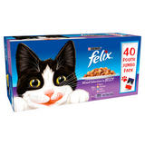 Felix Cat Food Mixed Selection in Jelly 40 x 100g