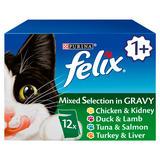 Felix Cat Food Mixed Selection In Gravy 12 x 100g