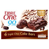 Fibre One 90 Calorie Triple Choc Cake Bars 4x25g