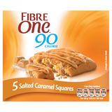 Fibre One 90 Calorie Salted Caramel Squares 5x24g