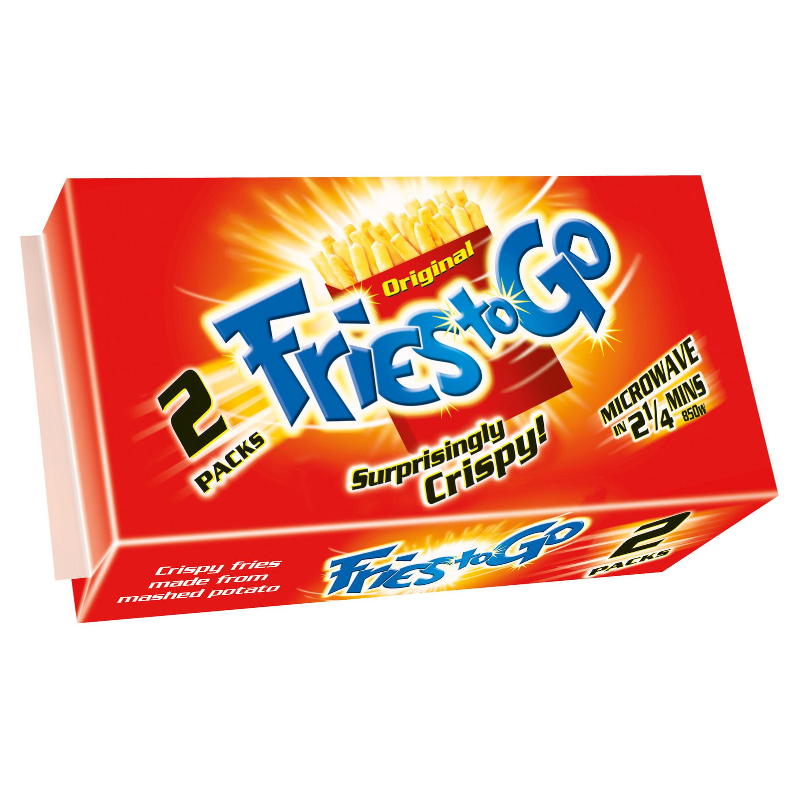 Fries To Go Original 2 X 90g Chips Fries Iceland Foods