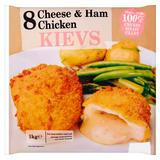 Glenhaven 8 Cheese & Ham Chicken Kievs 1kg