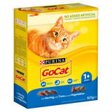 Go-Cat Adult Dry Cat Food Tuna Herring and Veg 825g