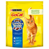 GO-CAT Crunchy and Tender Cat Food with Salmon, with Tuna with Vegetables 325g