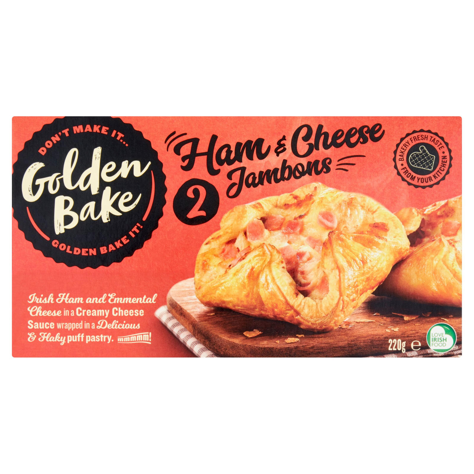 Golden Bake 2 Ham Cheese Jambons 220g Iceland Foods