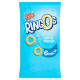 Golden Wonder Ringos Salt & Vinegar 6 x 12.5g (75g)