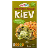 Goodlife Mushroom & Spinach Kiev with a Creamy Garlic & Cheese Sauce 2 Pack 250g