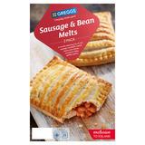 Greggs 2 Sausage & Bean Melts 308g